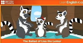 http://learnenglishkids.britishcouncil.org/en/songs/the-ballad-lisa-the-lemur