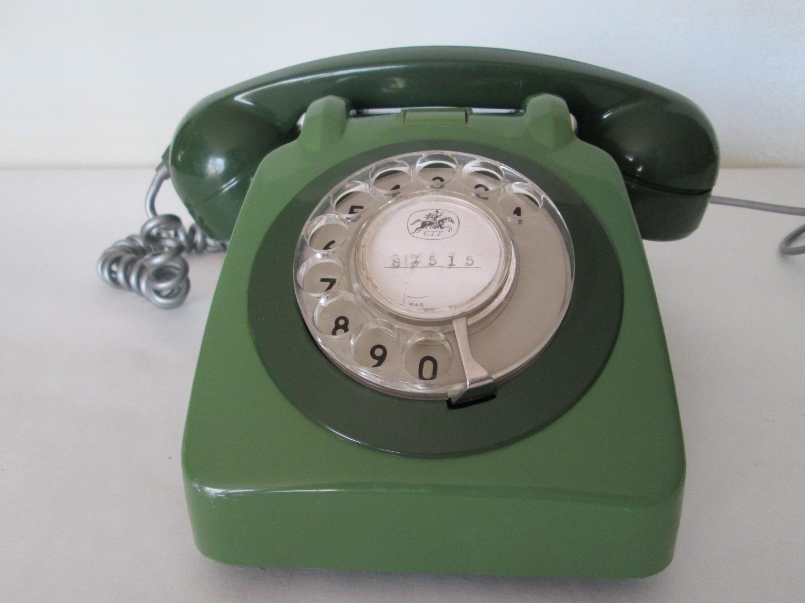 TELEFONO RETRO VINTAGE VERDE