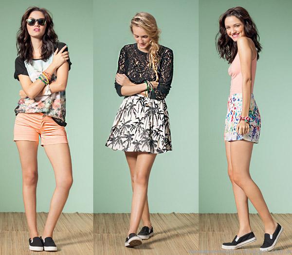 Núcleo Moda primavera verano 2015 shorts y faldas de moda 2015.