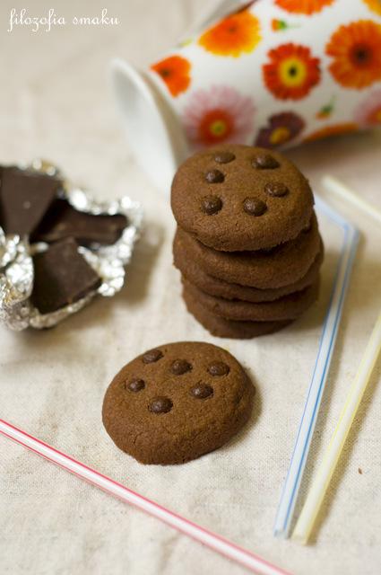 Łatwe ciastka maślane z kakao