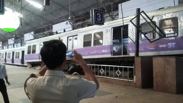 Train accident reported at Churchgate railway station