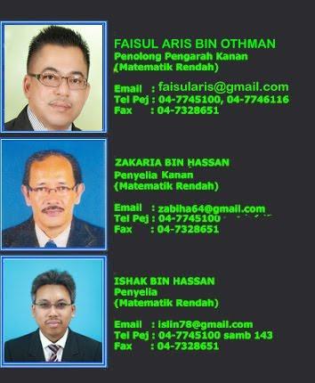 Pegawai Matematik Rendah JPN Kedah