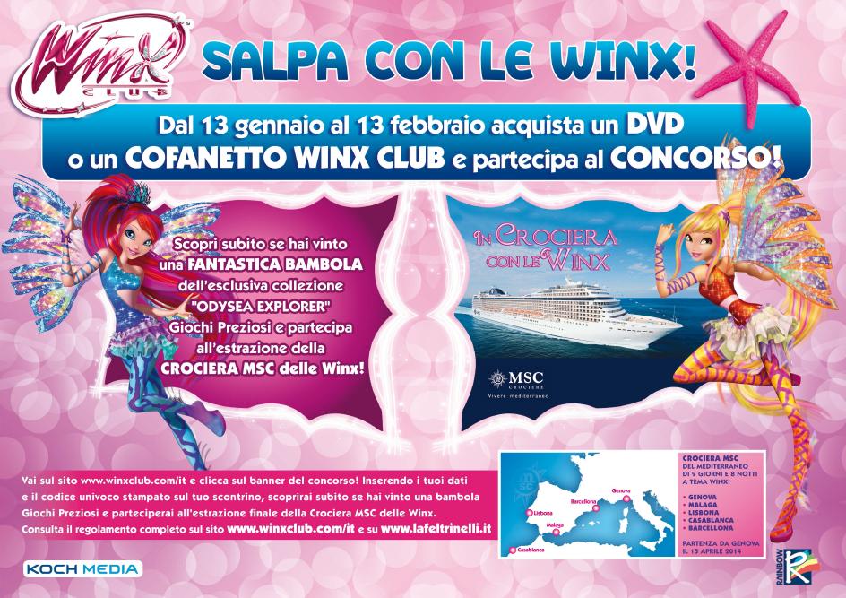Salpa con le winx concorso 2014 gennaio febbraio news regalare un giocattolo MSC la Feltrinelli