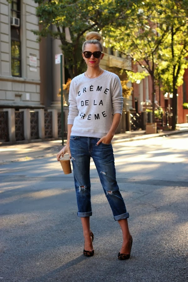 creme de la creme sweatshirt via atlantic pacific