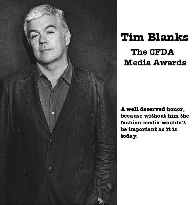 CFDA 2013 Media Awards - Tim Blanks
