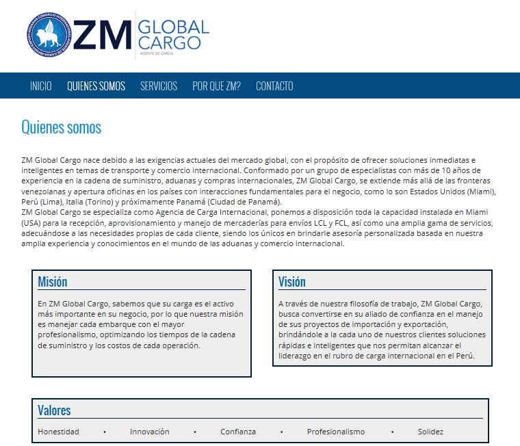 Agencia de carga zm global cargo comercio internacional for Agencias de comercio exterior