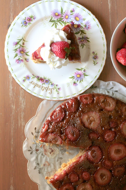 Indigo Scones: Strawberry Brown Butter Upside-Down Cake