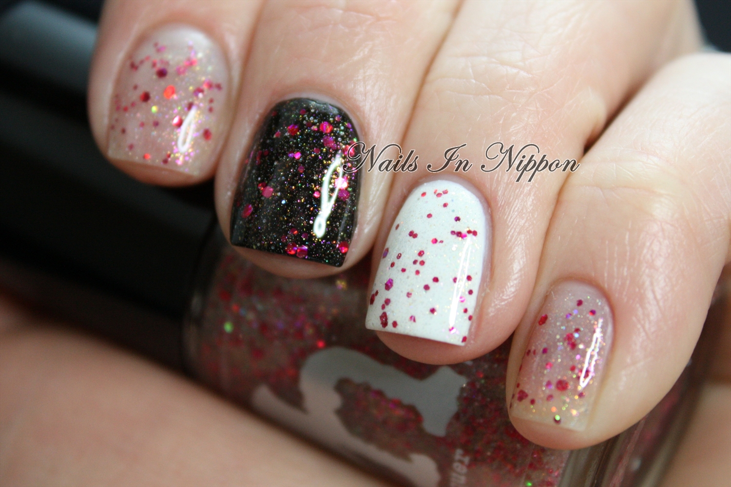 Black And White And Pink Nails | Joy Studio Design Gallery ...