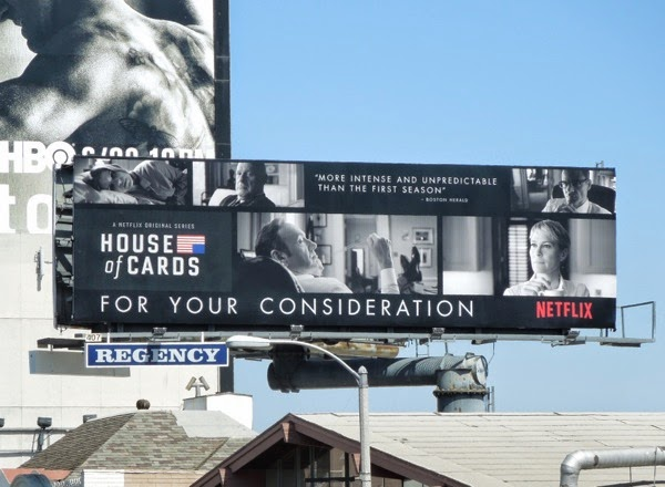 House of Cards season 2 Emmy Consideration billboard