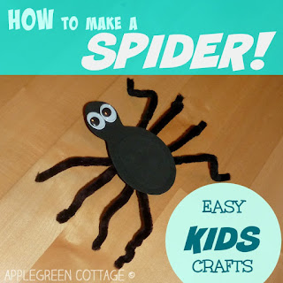spider crafts for kids - Halloween tutorial