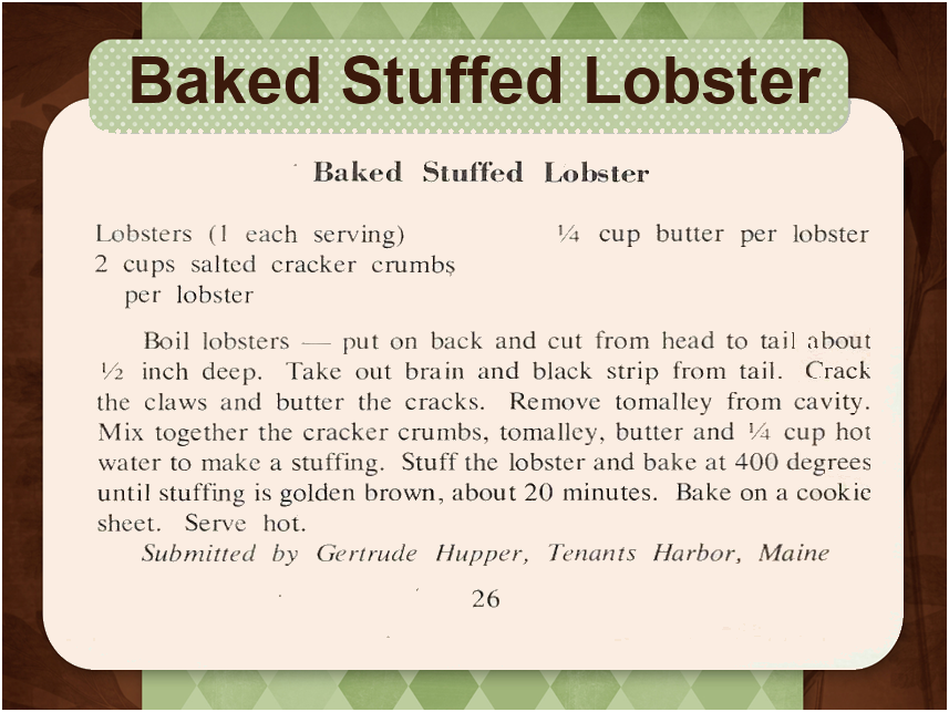 baked stuffed lobster baked live lobster and creamed lobster broiled