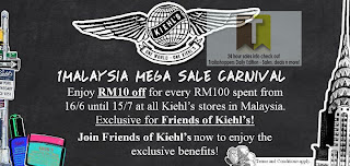 Kiehl's 1Malaysia Mega Sale Carnival