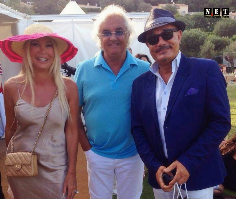 Montecarlo presso il Polo Club con  e il conduttore di RMC Maurizio Di Maggio