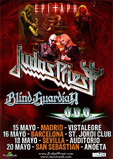 Se acerca la gira española de Judas Priest, Blind Guardian y UDO