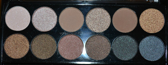 MUA Makeup Academy Undressed Palette. neutral eyeshadow palette