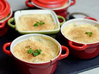 Marmite de poireaux sauce camembert