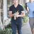 NICK JONAS SHOWS OFF HUGE BICEPS WHILE GRABBING SOME STARBUCKS