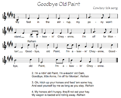 Goodbye+Old+Paint2 Cowboy Songs
