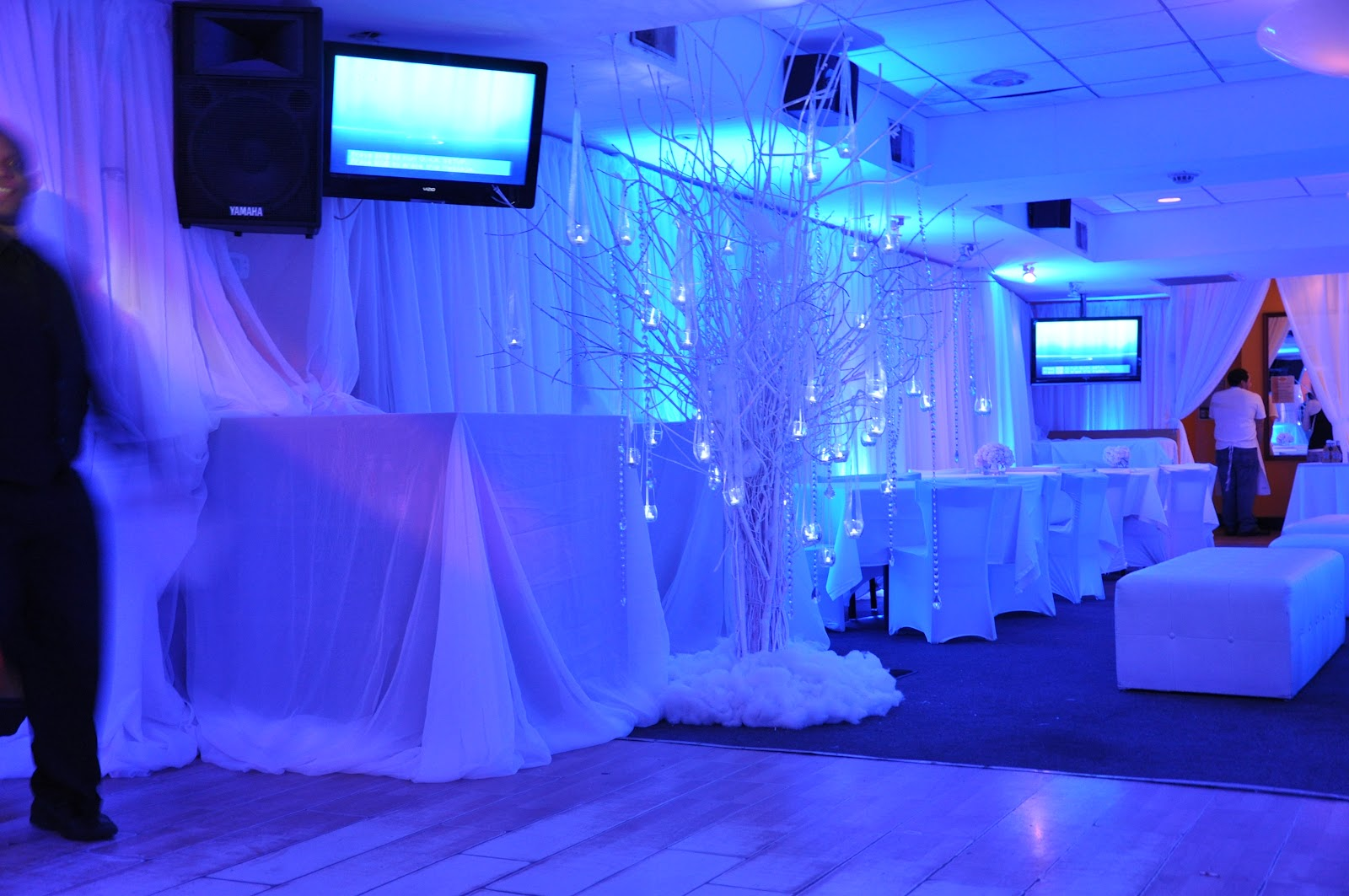 Lounge Decor In Our Last Bat Mitzvah Winter Wonderland