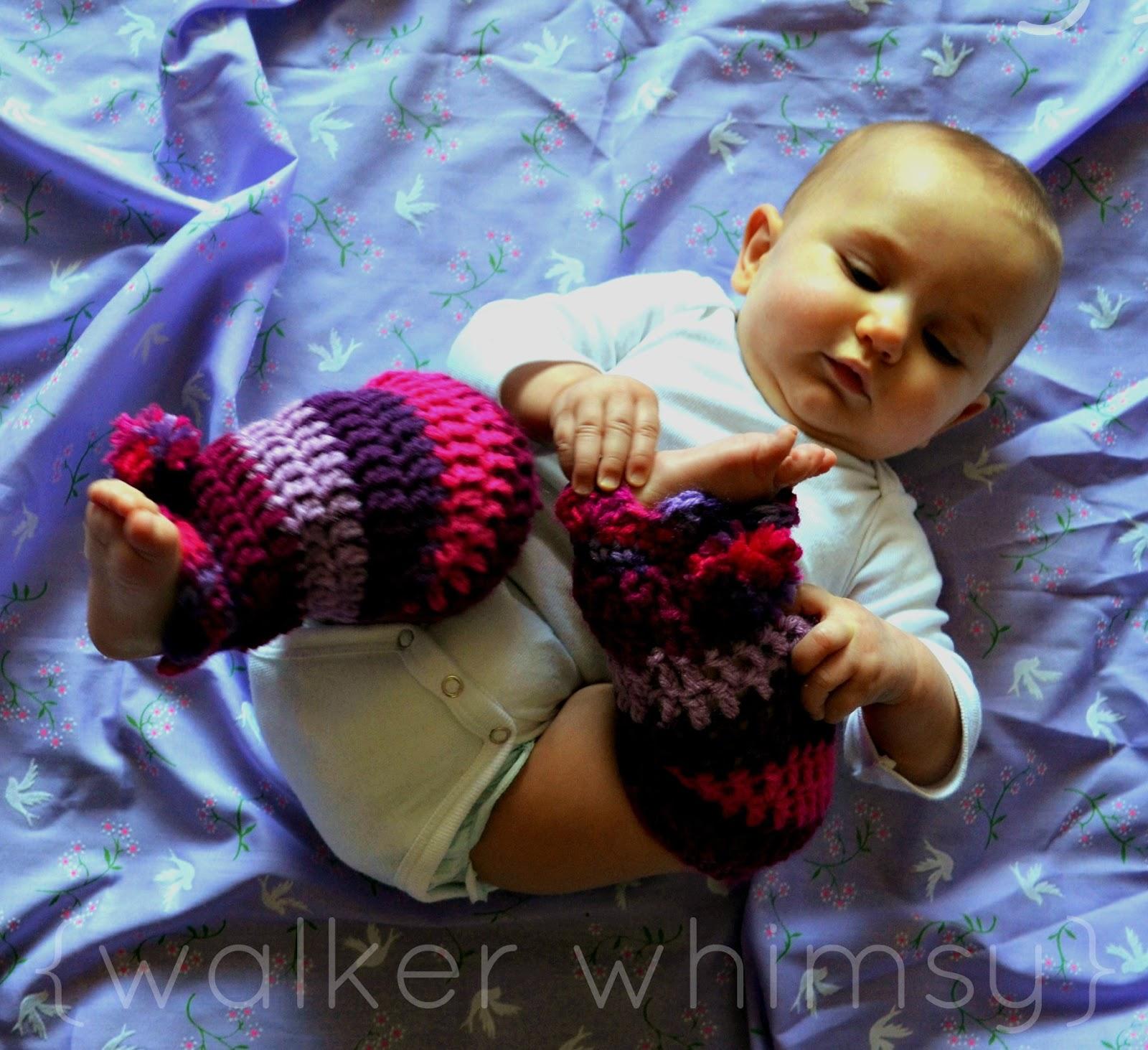 walker whimsy}: Striped Leg Warmers {FREE Crochet Pattern of the Month}