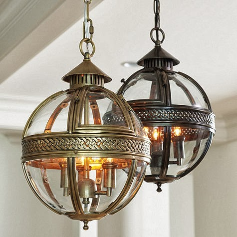 BALLARD DESIGNS HALDEN GLASS ORB PENDANT
