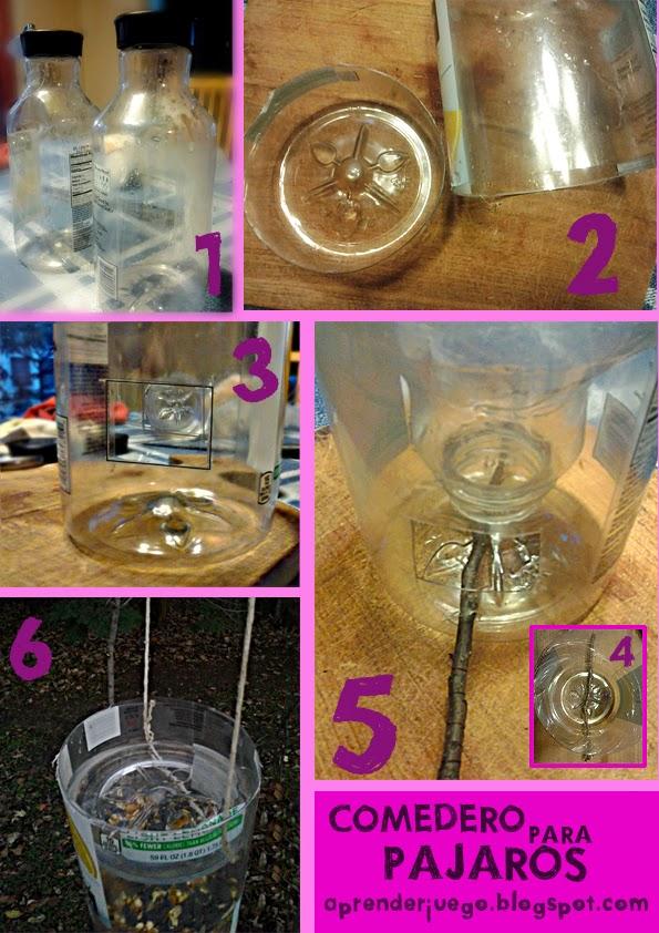 C mo hacer un comedero para p jaros casero con material - Comedero de pajaros ...