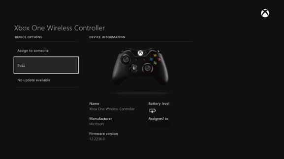 xbox one wireless controller update