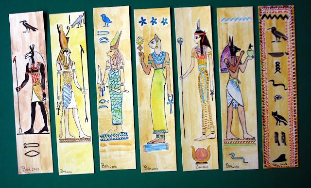 Marcadores de Livros: 133_ Deuses Egipcios