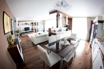 sala comedor cocina apartamento moderno