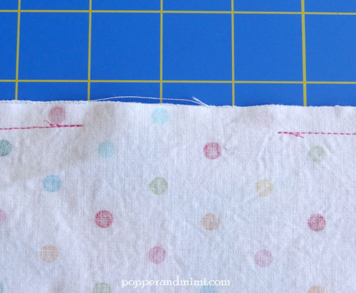 Reusable Fabric Sandwich Bag leave a small opening | popperandmimi.com