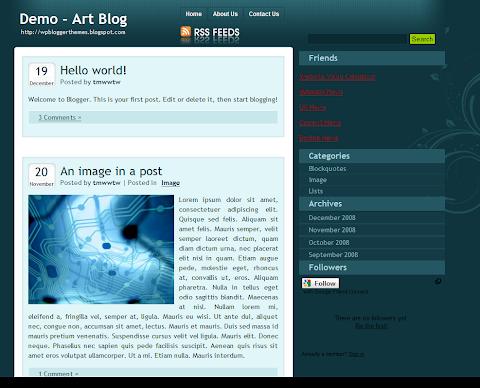 Art Blog Blogger Theme