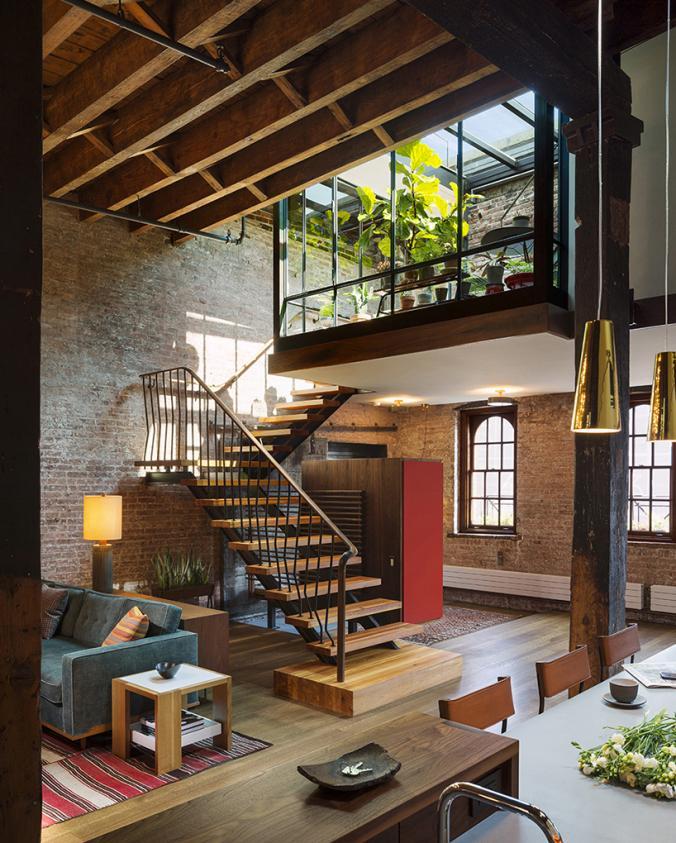 Marzua tribeca loft de estilo ecl ctico con patio interior - Diseno patio interior ...