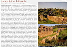 Lista Roja del Patrimonio: Convento de la Luz o de Moncarche (Alconchel/Villanueva del Fresno)