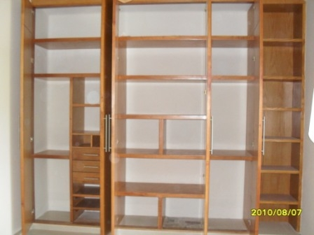 Demadera veracruz closets for Zapateras para closet madera