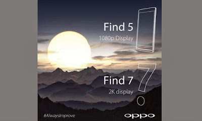 Oppo Find 7, 2K display, Oppo Find 5, smartphone, Quad Core, Snapdragon 800, layar 2 K, smartphone baru, new smartphone