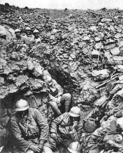 Trinchera en Verdun en 1916