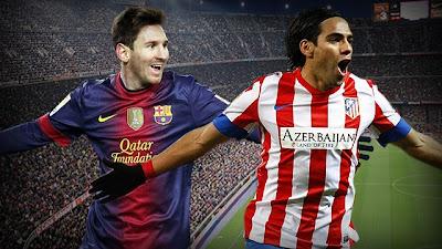 Barcelona's Messi vs Atletico's Falcao