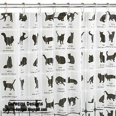 cats shower curtain style Classification 30 Creative shower curtains unique designs, styles, photos 2