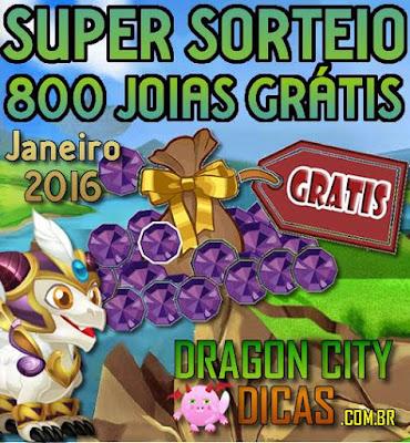 Super Sorteio de 800 Joias Grátis - Janeiro 2016