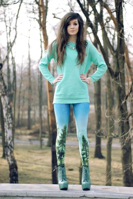 electro, house, rocker, blackmilk, tree, long, legs, długie, nogi, lity, lita, shoes, mint