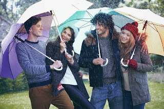 2 couples with umbrella friendship rainy quotes