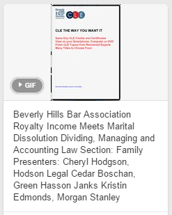 Cedar Boschan at the Beverly Hills Bar Association - DVD