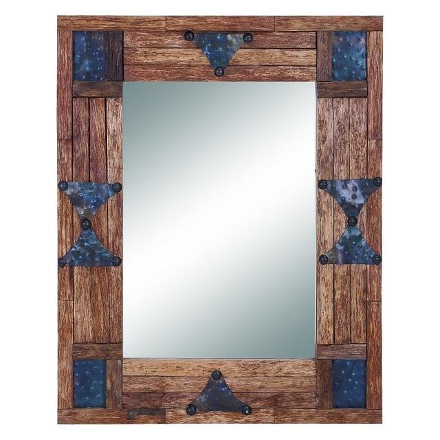 Bohemian Style rustic wall mirror design