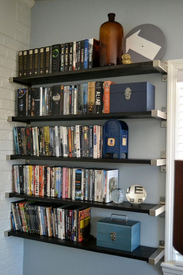 open shelving for dvd storage lansdowne life. Black Bedroom Furniture Sets. Home Design Ideas