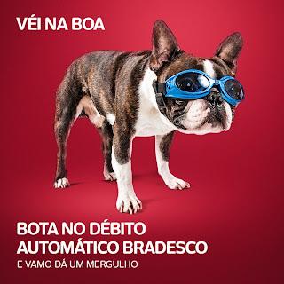 A imagem do Bradesco no Facebook possui características de meme