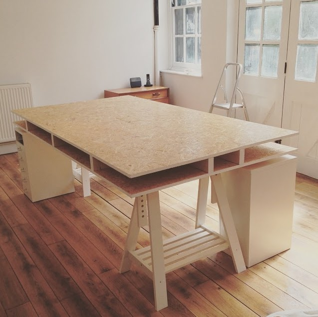 Diy how to build a desk for Diy study table design