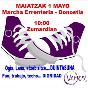 1 de Mayo: Marcha entre Errenteria y Donostia
