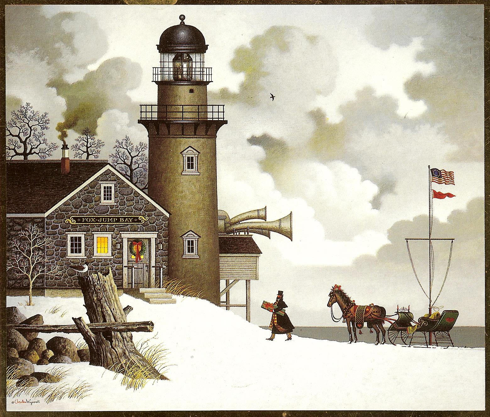 Charles Wysocki Christmas Cards