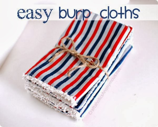 Craftaholics Anonymous' Easy Burp Cloths
