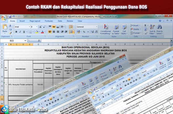 Contoh Rkam Dan Rekapitulasi Realisasi Penggunaan Dana Bos Download File Pendidikan